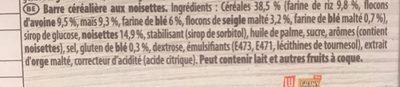 Grany barre cereale noisette - Ingrediënten
