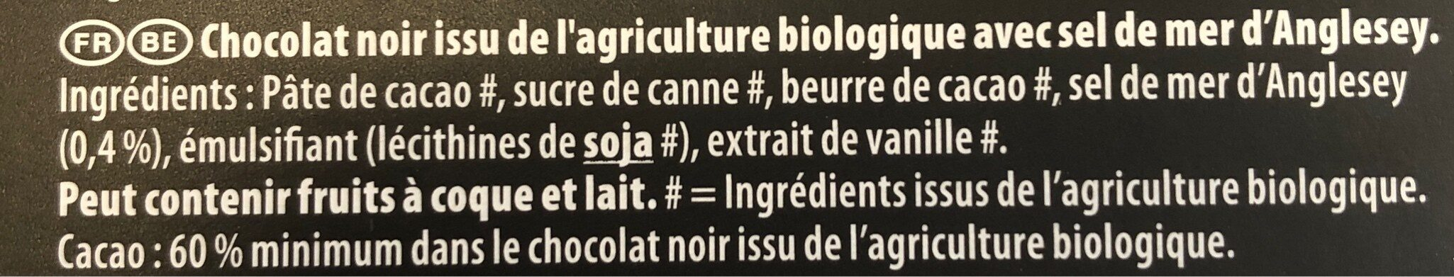 Mignonette bio noir - Ingrediënten