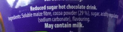 Cadbury hot chocolate - Ingrediënten - en