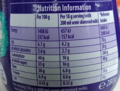 Cadbury hot chocolate - Voedingswaarden - en