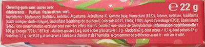 Chewing-gum - Ingrédients - fr