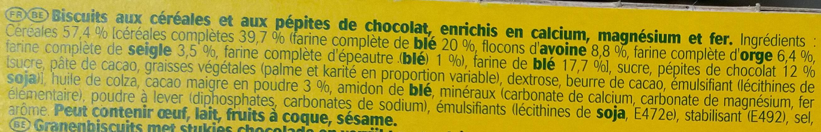Belvita minis chocolat - Ingrédients - fr
