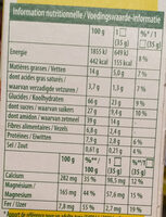Belvita minis chocolat - Informations nutritionnelles - fr