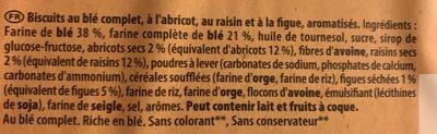 Les Petits Épis figue raisin abricot - Ingredients