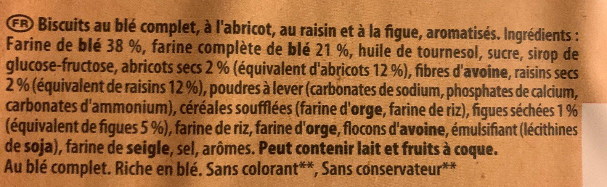 Les Petits Épis figue raisin abricot - Ingrédients - fr