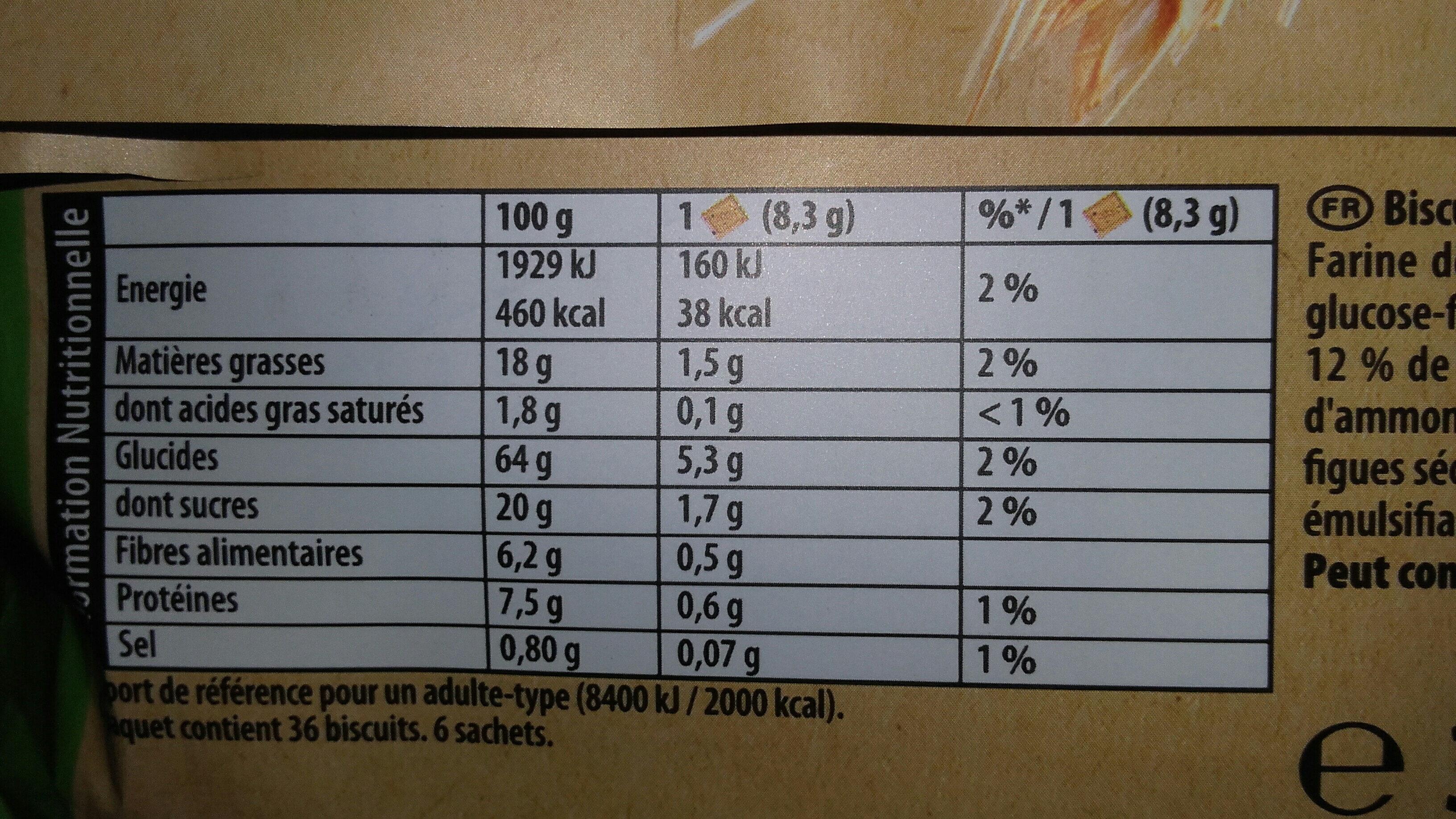 Les Petits Épis figue raisin abricot - Informations nutritionnelles - fr