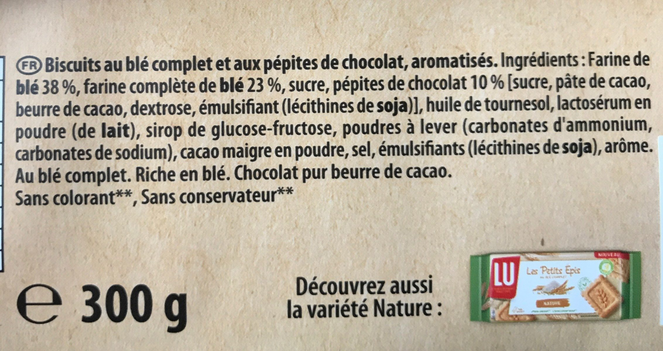 petits epis - Ingrediënten - fr