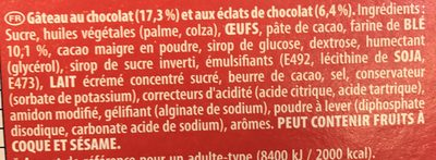 Granola 30 g - Ingredients