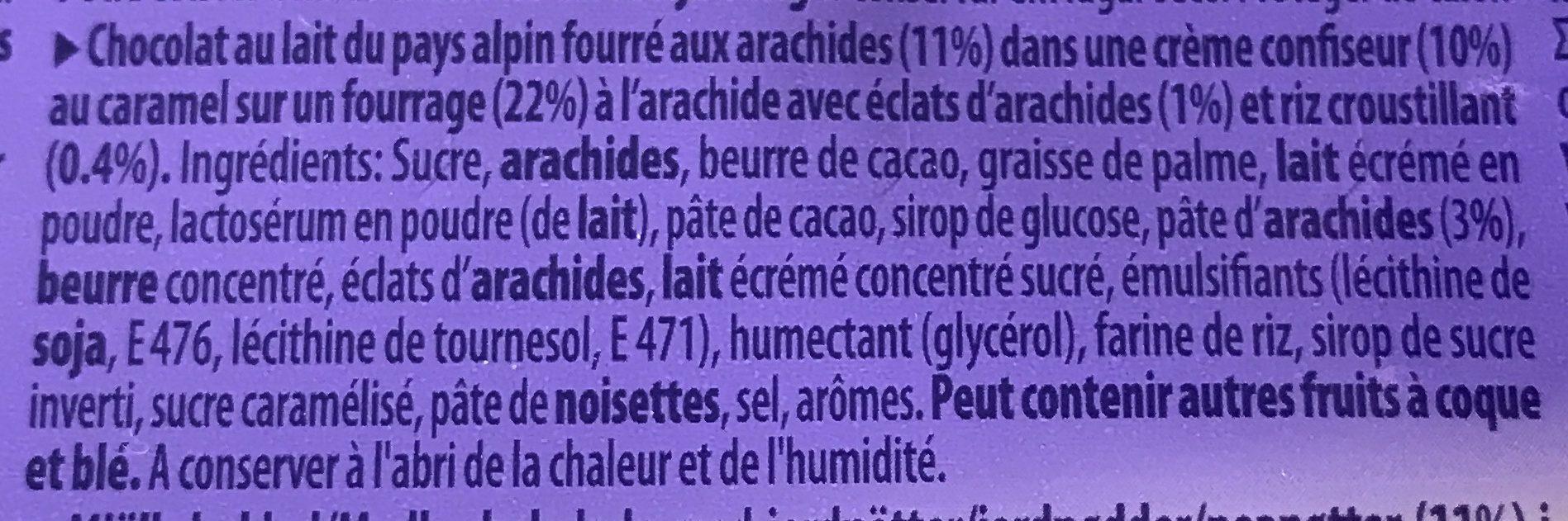 Milka Peanut Caramel - Ingrediënten