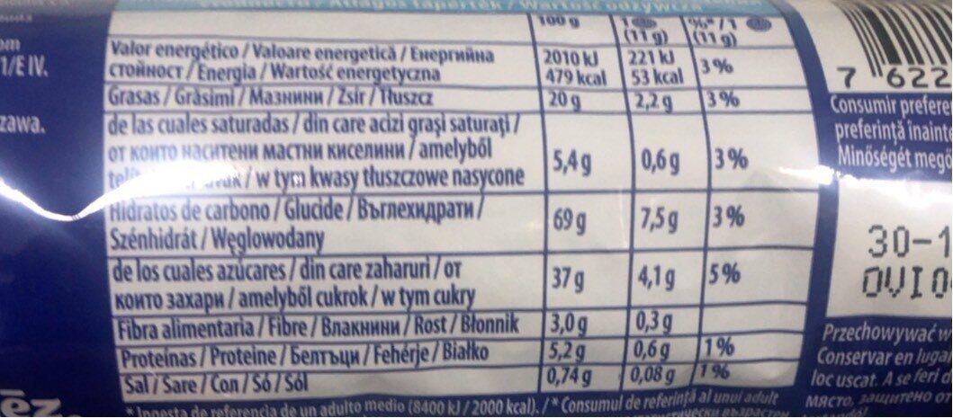 Oreo Strawberry Cheesecake 14er - Хранителна информация - ro
