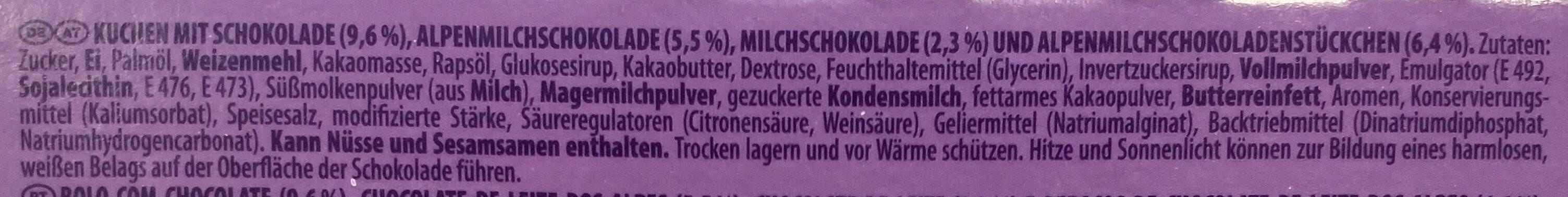 Choco brownie - Ingrédients - de