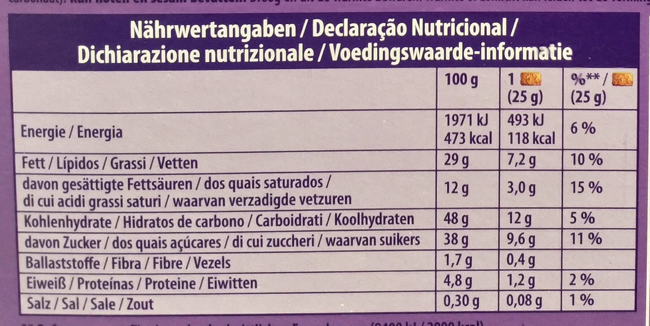 Choco brownie - Informations nutritionnelles - de