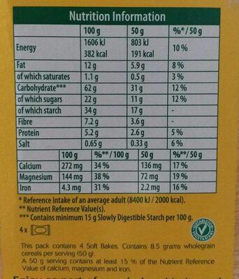 Belvita soft bakes - Voedingswaarden - en