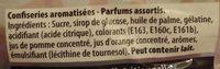 Bonbons Mystery 4 parfums mystères Kréma - Ingredients - fr
