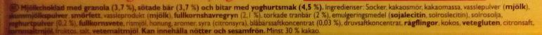 Marabou Bär, granola & yoghurt - Ingredients