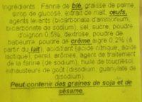 Tuc Cracker Sour Cream & Onion - Ingrédients