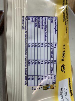 Tuc Cracker Sour Cream & Onion - Nährwertangaben - fr