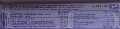 Milka Darkmilk Ciocolată cu lapte alpin - Nutrition facts