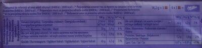 Darkmilk - Informations nutritionnelles - ro