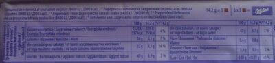 Milka Darkmilk Ciocolată cu lapte alpin și zmeură uscată - Nutrition facts