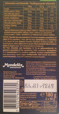 Brut noir - noisettes grillées & amandes - Ingredients