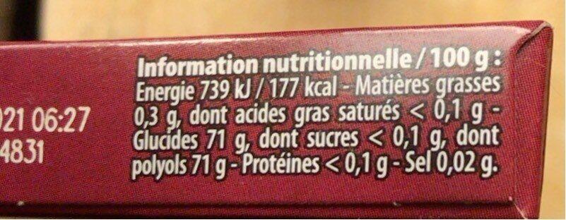 Cherry parfum cerise - Informations nutritionnelles - fr