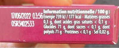 Hollywood Cherry parfum cerise - Informations nutritionnelles - fr
