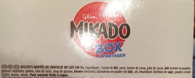 Mikado Box à partager - Ingredients