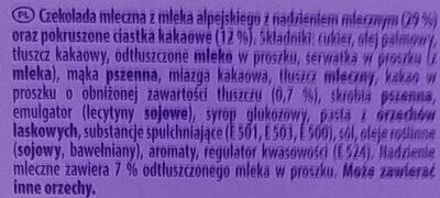 Milka Moments - Składniki - pl