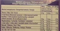 Moments - Informations nutritionnelles - pl