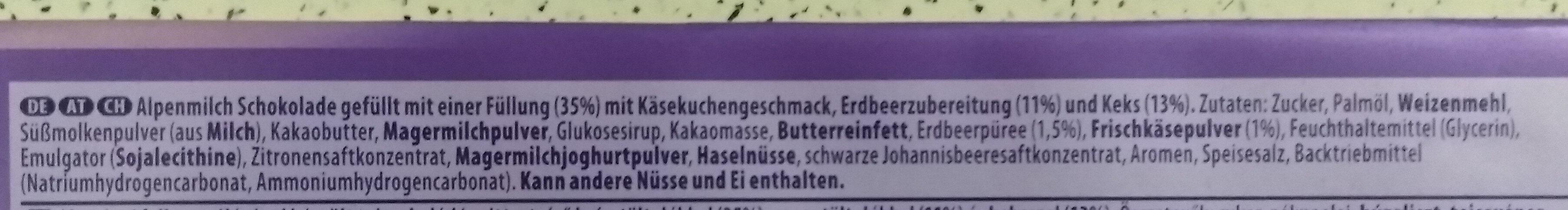 Mmmax Strawberry Cheesecake - Ingredients - de