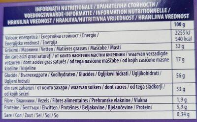 Milka moments - Informations nutritionnelles - fr