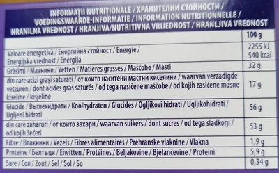 Milka moments - Nutrition facts