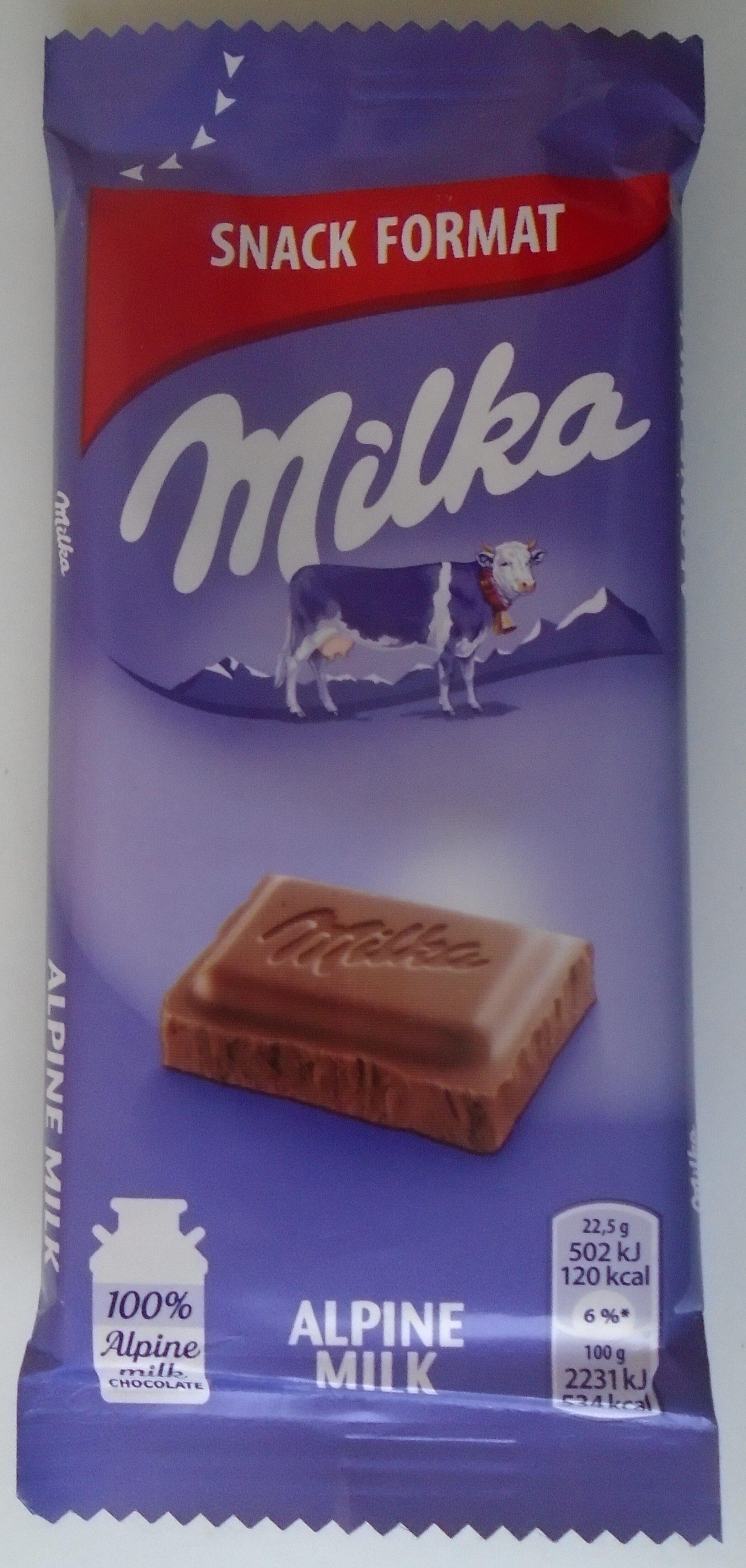 Milka Ciocolată cu lapte alpin - Производ - ro