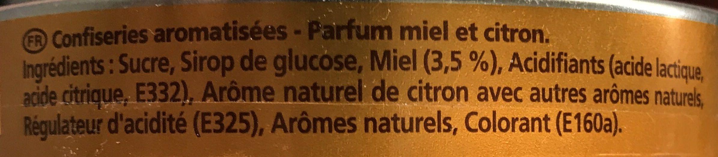 Bonbons Parfum Miel Citron - Ingrédients - fr