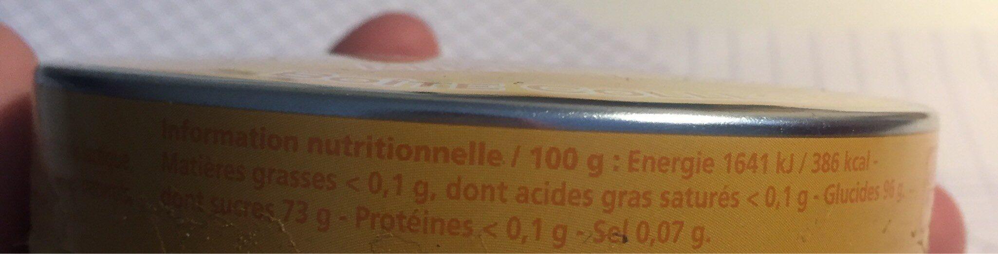 Bonbons Parfum Miel Citron - Informations nutritionnelles - fr