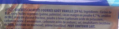 Oreo Original Sandwich Biscuits Share Pack - Ingrédients - fr