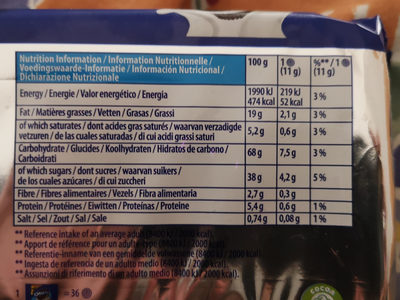 Oreo Original Sandwich Biscuits Share Pack - Informations nutritionnelles - fr