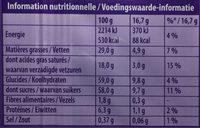 Chocolat au lait du Pays Alpin - Informations nutritionnelles - fr