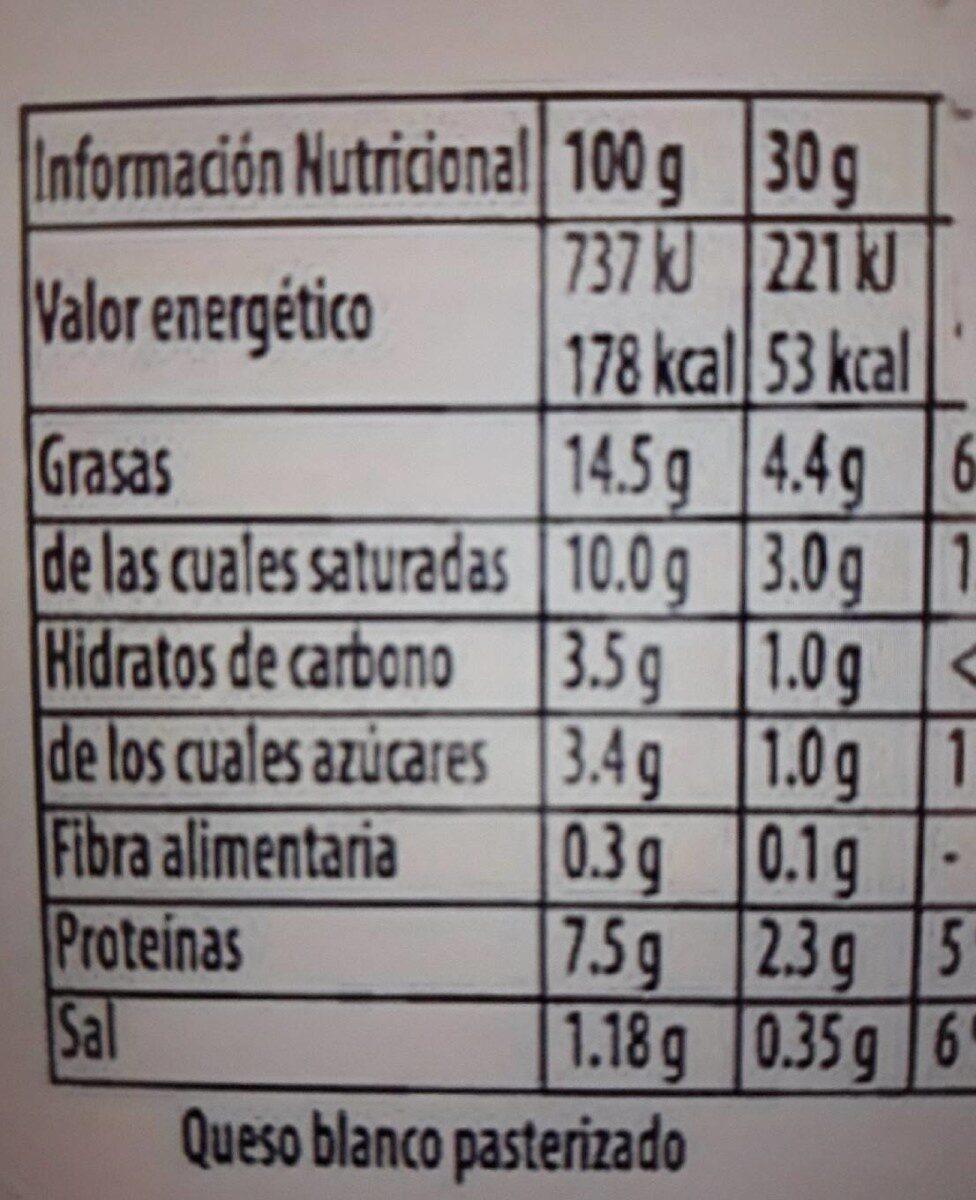 Philadelphia Light - Informació nutricional