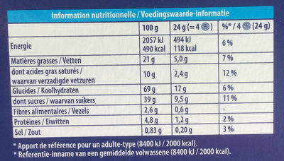 Oreo Crispy & Thin - Nutrition facts