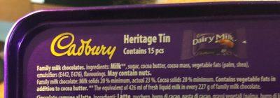 Diary Milk chocolate - Ingrédients