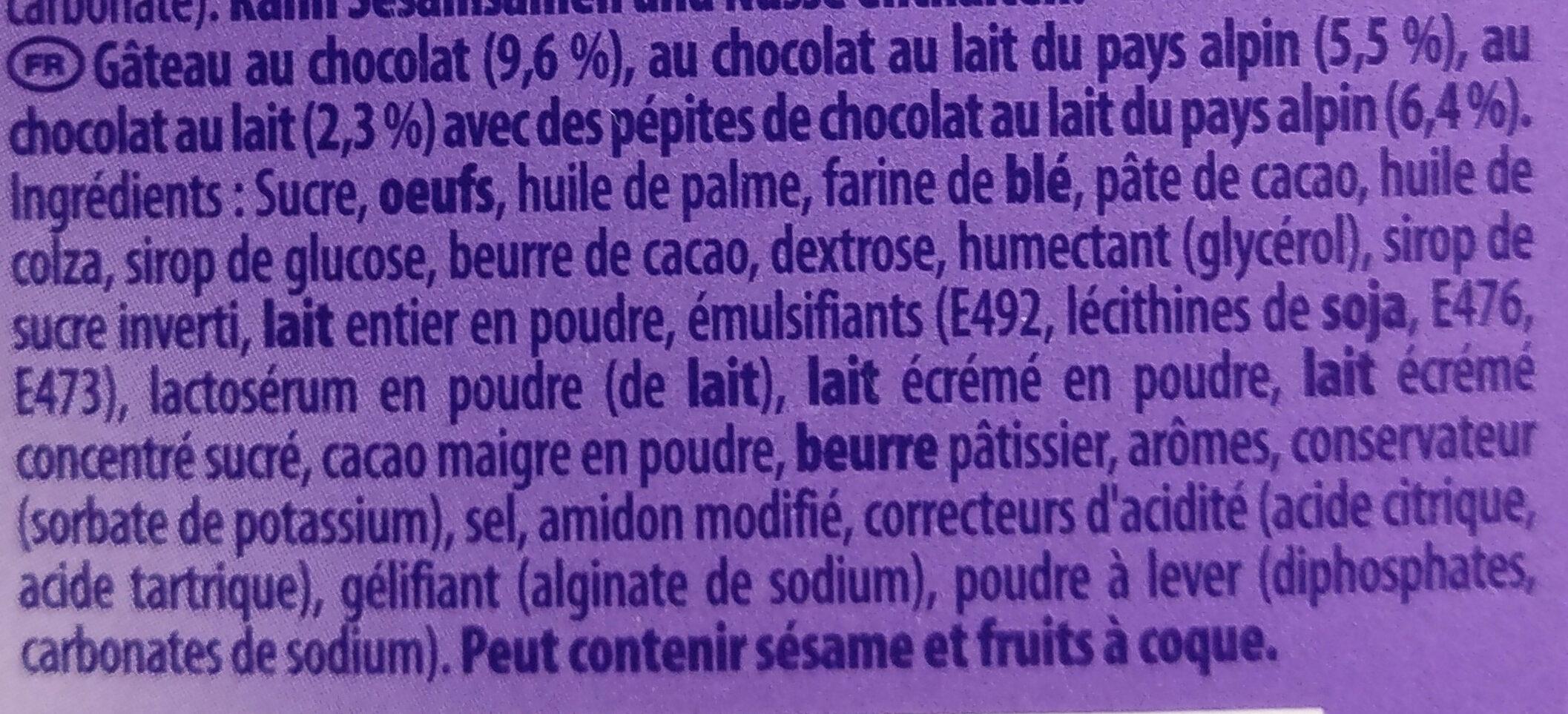 Minis Choco Brownie - Ingrédients - fr