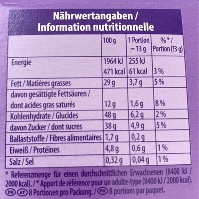Minis Choco Brownie - Informations nutritionnelles - fr