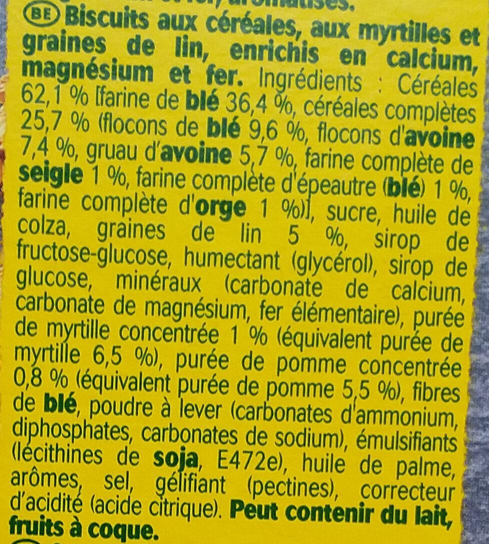 Belvita Graine et Fruits - Ingredienti - fr