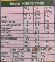 Graines et fruits - Framboises et graines de chia - Voedingswaarden - fr