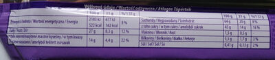 Wafelek oblany czekoladą mleczną z mleka alpejskiego. - Nutrition facts