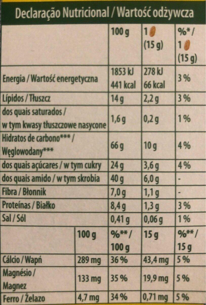 Myrtilles et graines de lin - Informazioni nutrizionali - cs