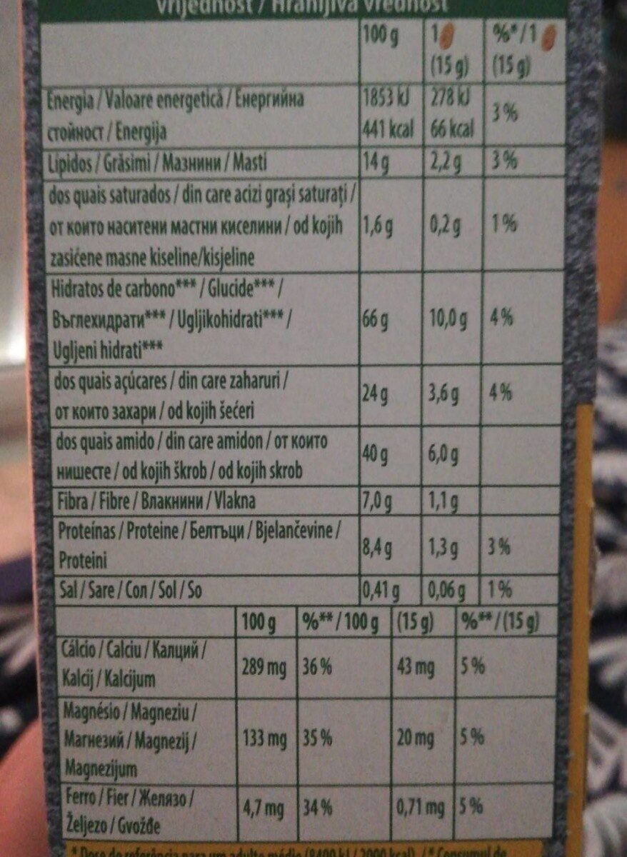 Myrtilles et graines de lin - Nutrition facts - en