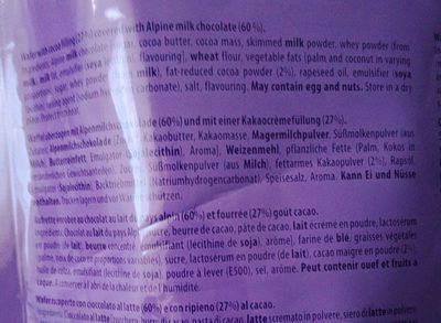 Milka choco wafer - Ingredienti - fr